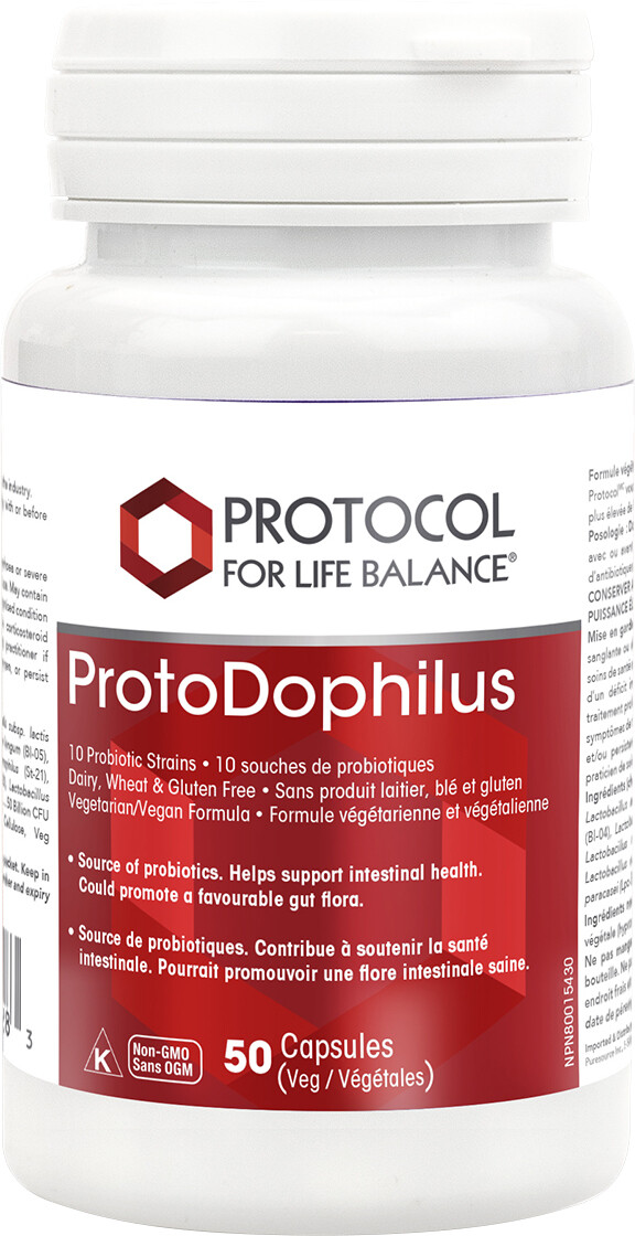 ProtoDophilus 50 Billion - Dairy Free by Protocol for Life Balance