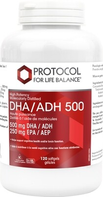 DHA 500 by Protocol for Life Balance