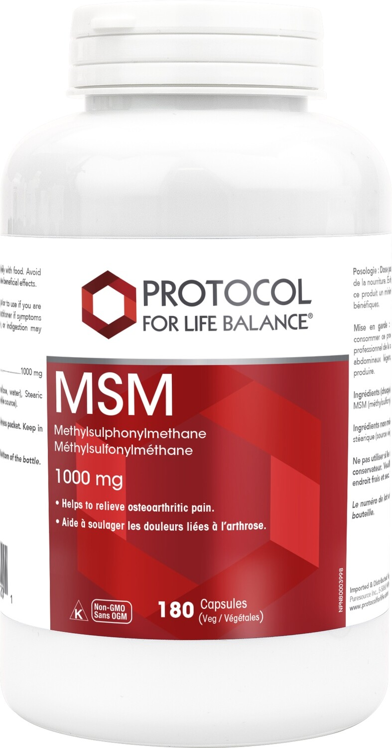 MSM (Bio Available) by Protocol for Life Balance