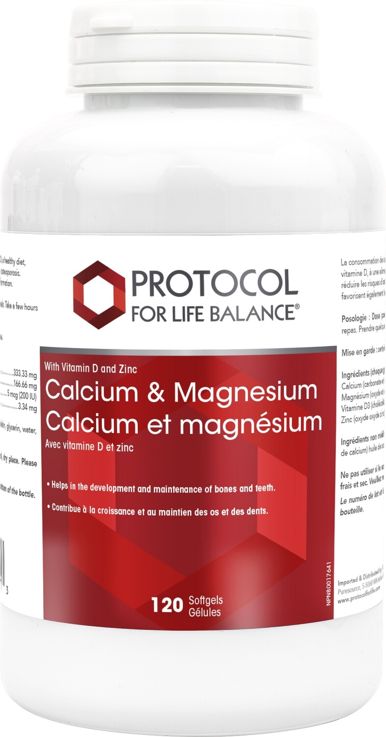 Calcium & Magnesium by Protocol for Life Balance
