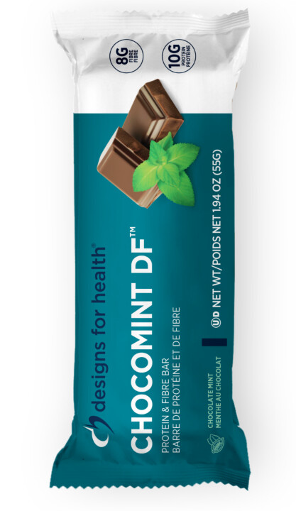 [ Box of 12 Bars ] Choco Mint Dairy Free by Designs for Health
