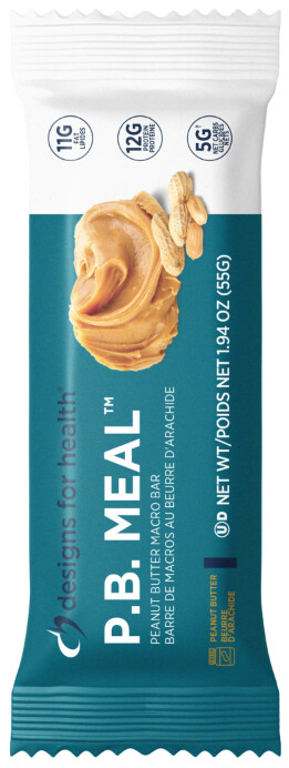 [ Box of 12 Bars ] P. B. Meal by Designs for Health