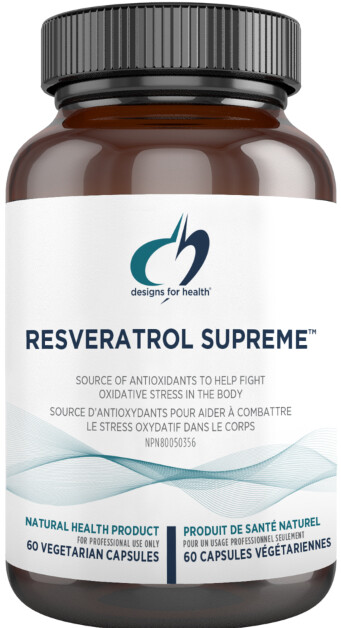 Resveratrol Synergy by Designs for Health