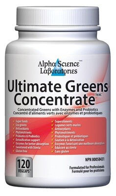 Ultimate Greens Concentrate Capsules by Alpha Science