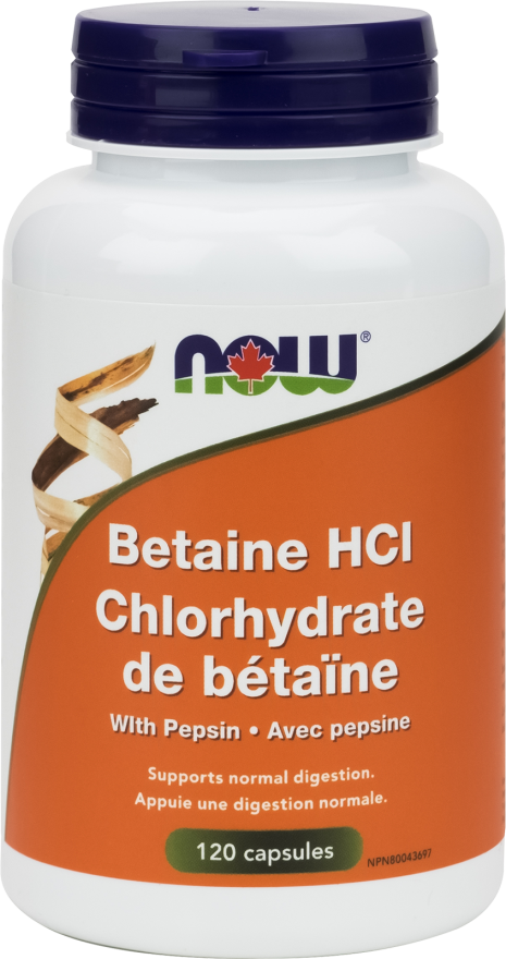 Betaine HCl Capsules by Now