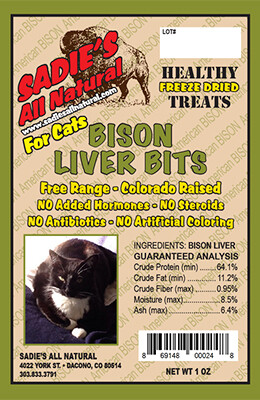 BISON LIVER BITS FOR CATS