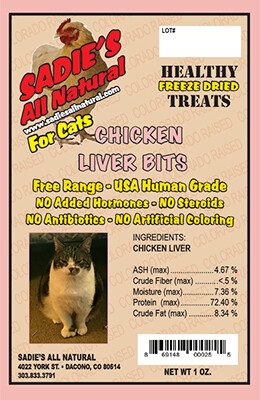 CHICKEN LIVER BITS FOR CATS