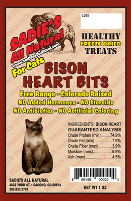 BISON HEART BITS FOR CATS