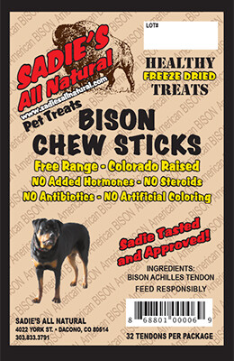 BISON CHEW STICKS  (32PCS.)