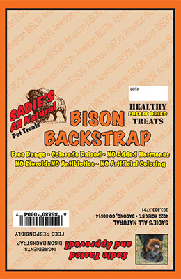 BISON BACK STRAP CHEW - SHORT