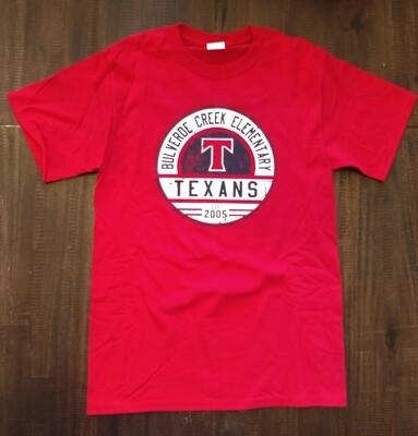 """Red """"T"""" Texans Spirit Shirt"""
