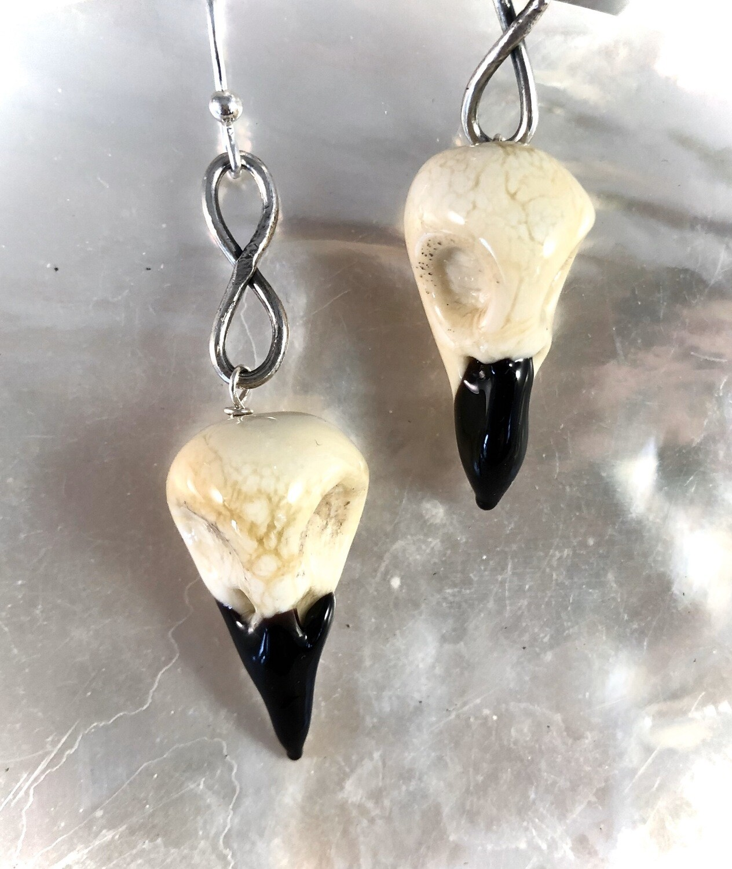 Crow Skull Earrings