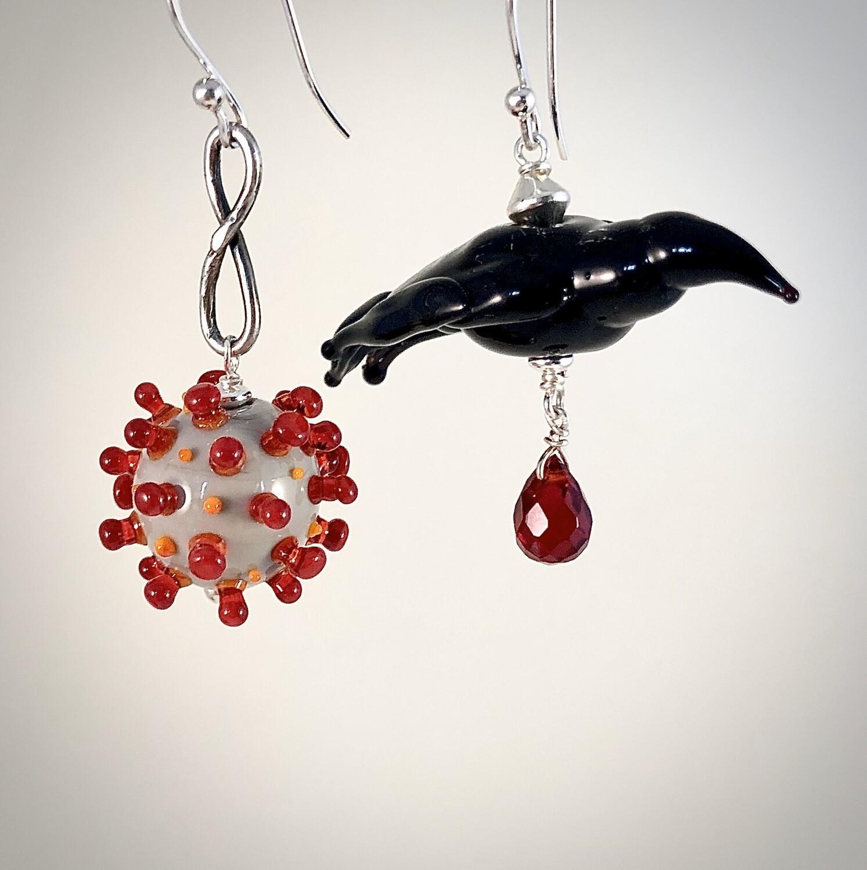 Crow And Corona Earrings