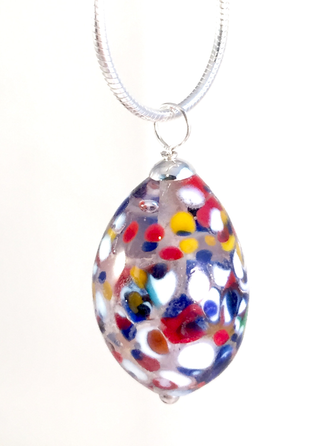 Multicolor Chrystal egg necklace
