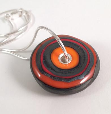 Metallic orange necklace