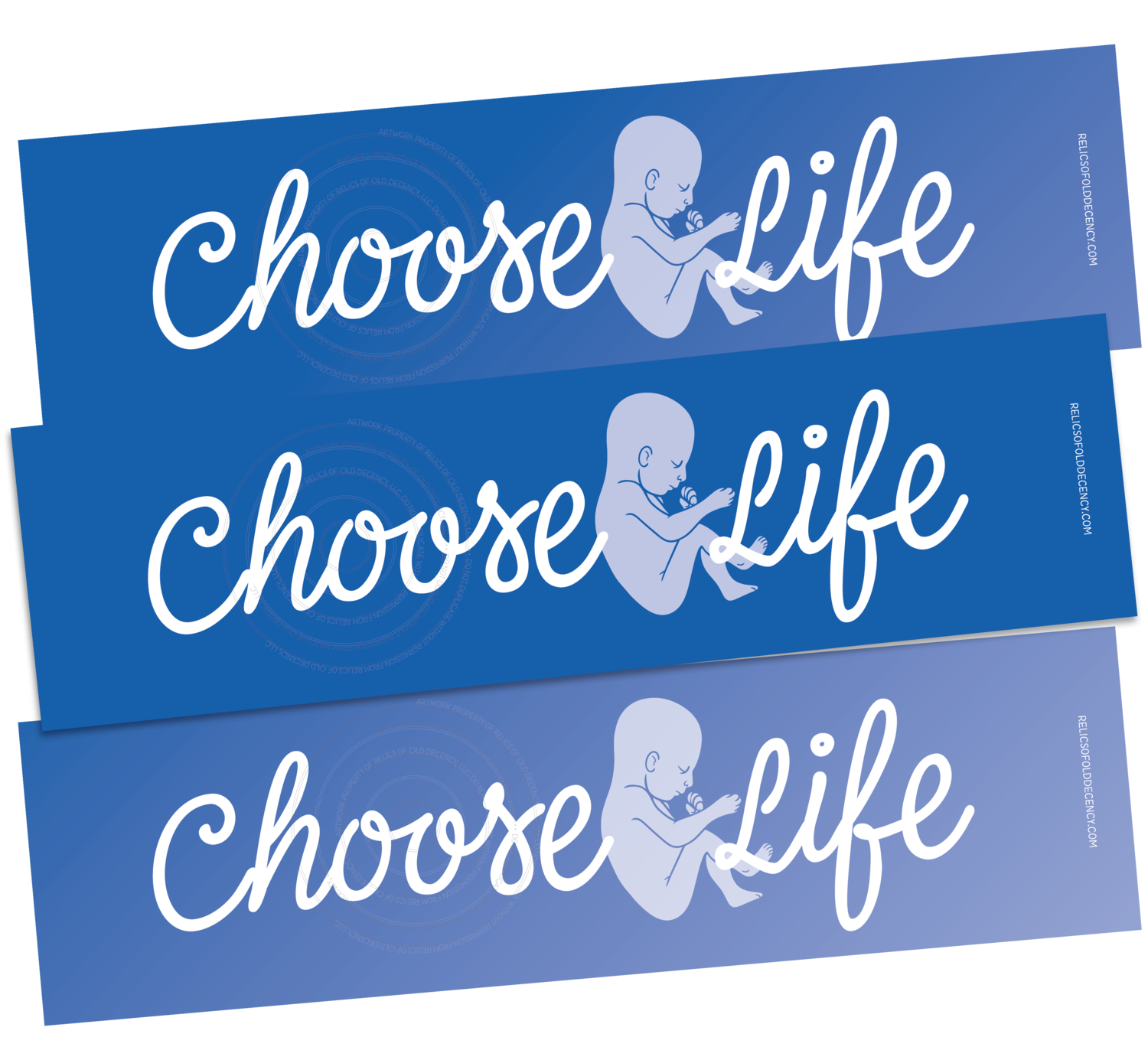 Choose Life Bumper Sticker