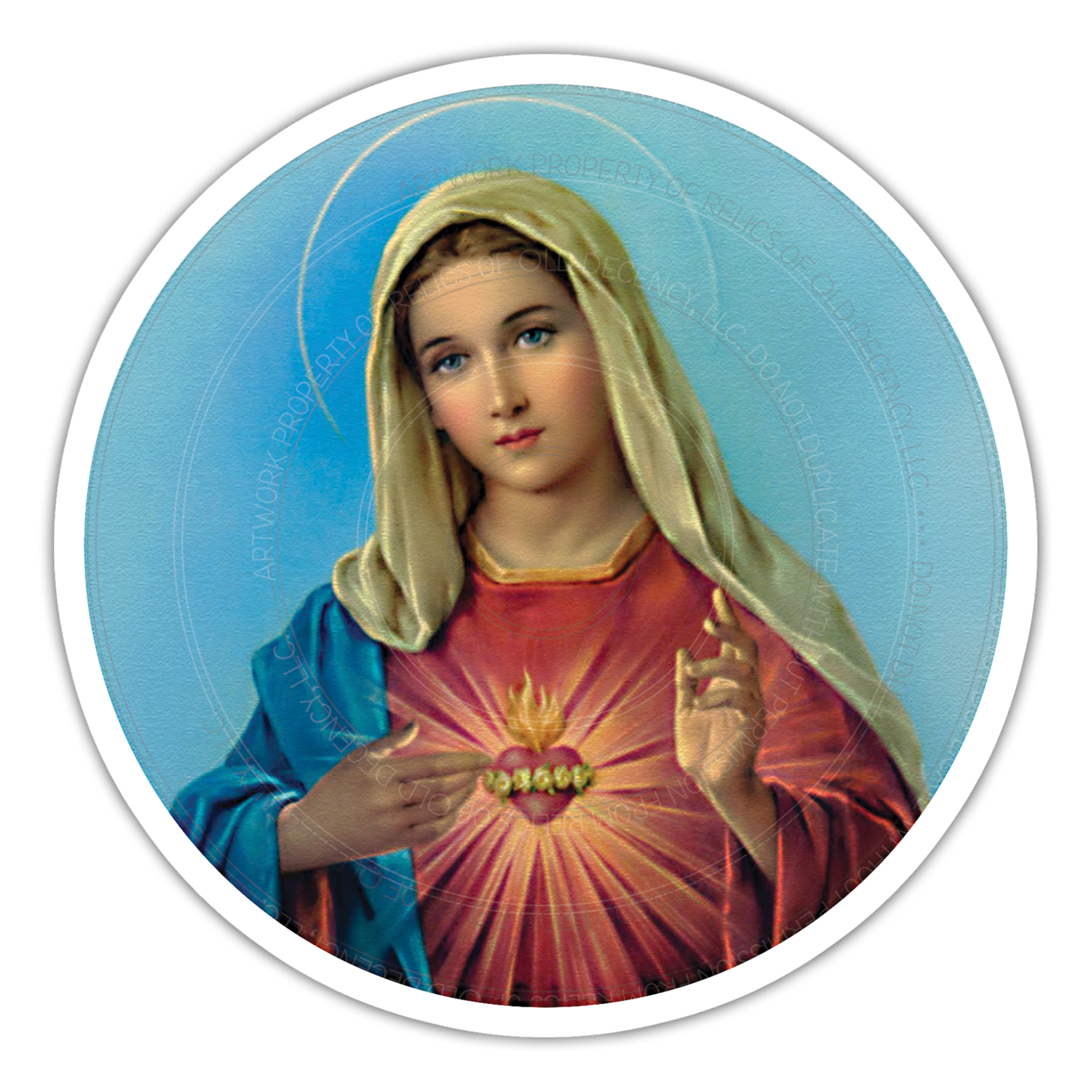 """5.5"""" Immaculate Heart Car Magnet"""