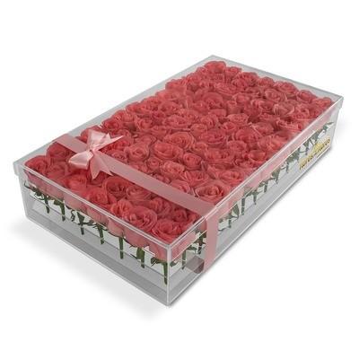 Rosas Rosas en caja acrilico  |  EVITA