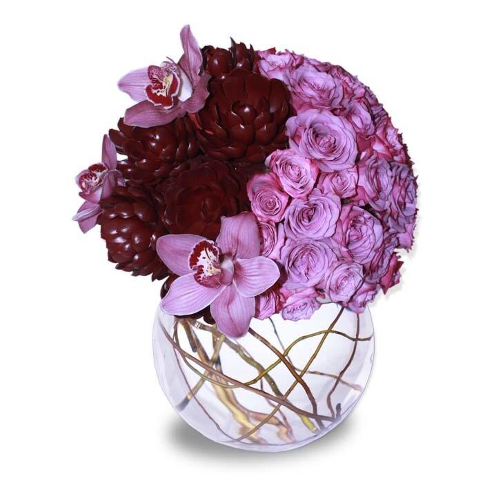 Arreglo Floral Orquídeas y Rosas   SINCERO