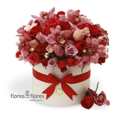 Arreglo Floral orquídeas y Rosas | MICHELLE