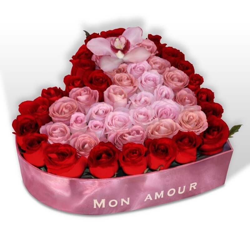 Corazón de 54 rosas Premium I BARDOT F-0111
