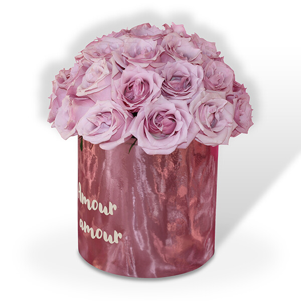 Caja de 36 rosas Premium rosa o rojo I CHLOE