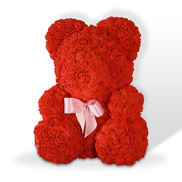 Oso de rosas artificiales | TEDDY F-0118