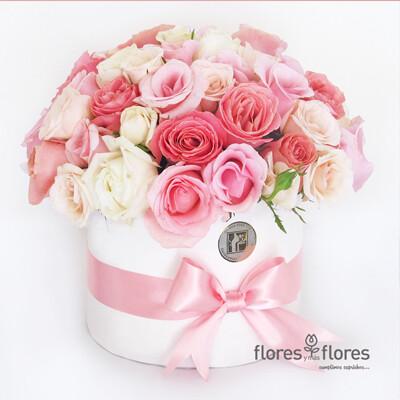 Bouquet Rosas tonos pastel      ILUSION