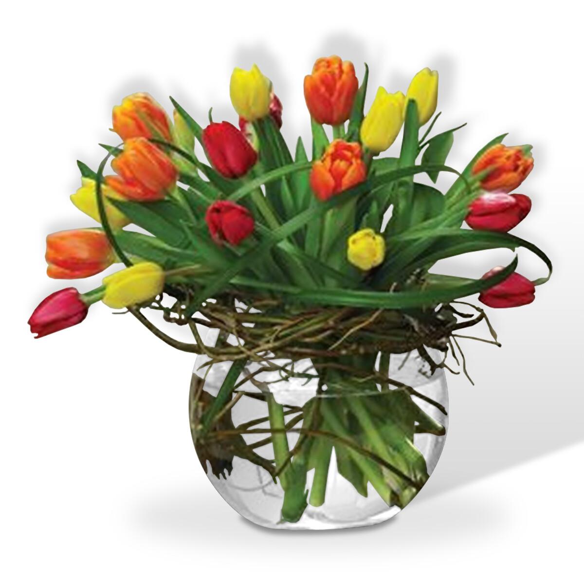 Arreglo Floral Tulipanes Multicolor   ESPLENDIDO