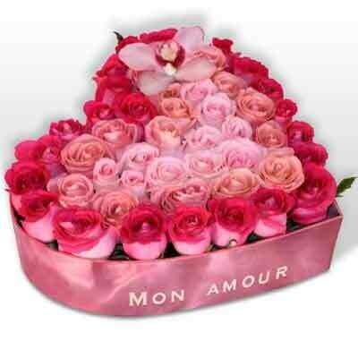 Corazón de 54 rosas Premium  | BARDOT F-0111