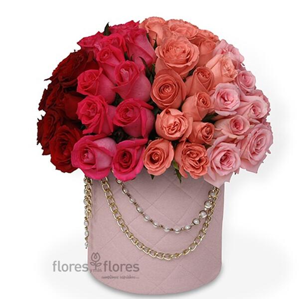 Lujosa Caja de 80 Rosas Premium |  CHANEL MEDIUM