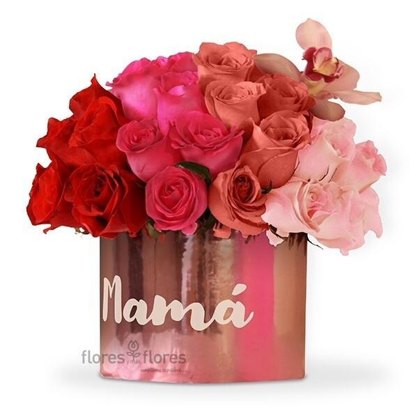 Caja de 50 rosas Premium rosa o rojo  | CECILE
