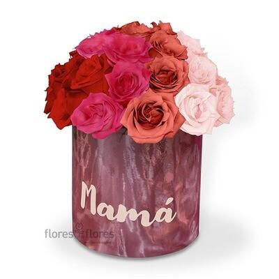 Caja de 36 rosas Premium rosa o rojo | CHLOE