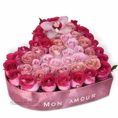 Corazón de 54 rosas Premium  | BARDOT