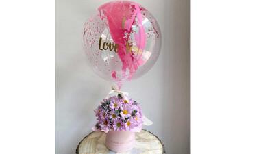 Arreglo floral con globos | VIOLET