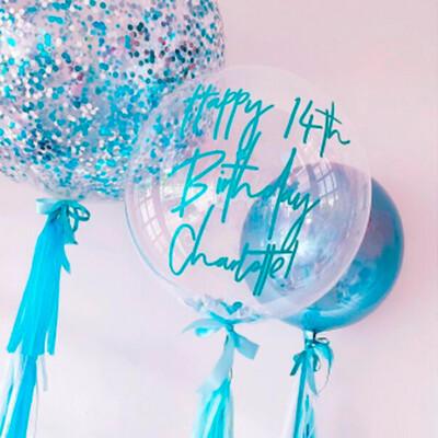 Composición personalizada de globos  | WATER