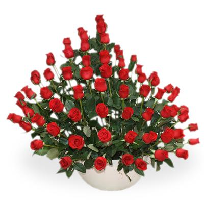 Arreglo Floral Rosas Rojas   BLOOMY