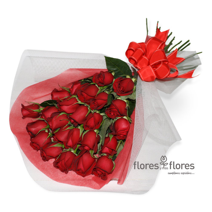 Ramo de 24 Rosas rojas   BOMBON