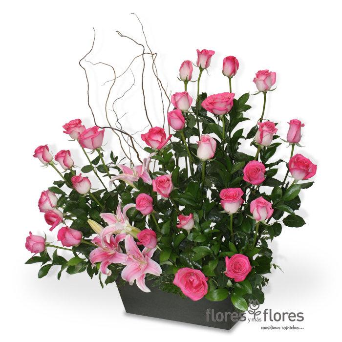 Arreglo Floral Rosas y Stargeizer   RISCO
