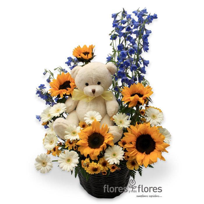 Arreglo Floral con Girasoles   GENIAL