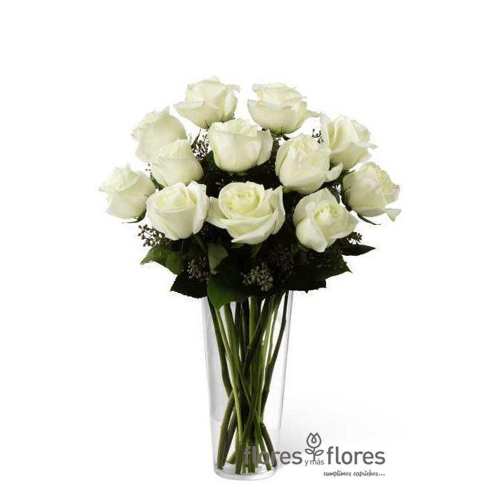 Ramo de  Rosas Blancas   CLARA