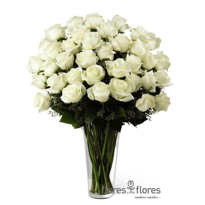 Arreglo Floral Rosas Blancas | TRANSPARENT   T-0014