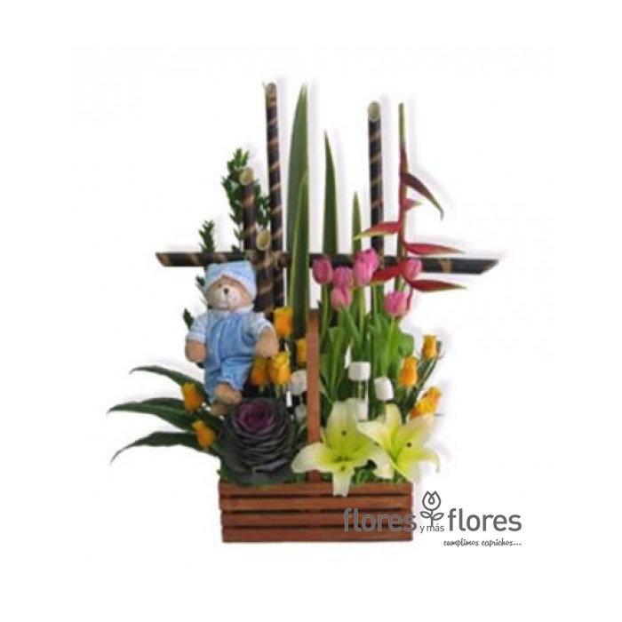 Arreglo Flores y Peluche   INOCENCIA