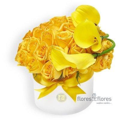 Bouquet Rosas Amarillas y Callas | CELINE