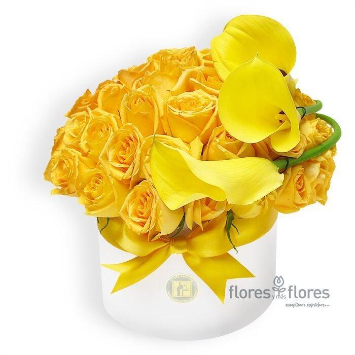 Bouquet Rosas Amarillas y Callas   CELINE