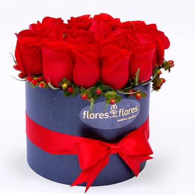 Arreglo Floral de Rosas rojas en caja | NICOLA