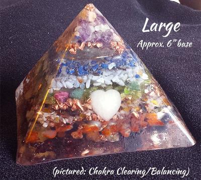 LARGE Orgone Pyramid - Chakra Cleansing and Balancing
