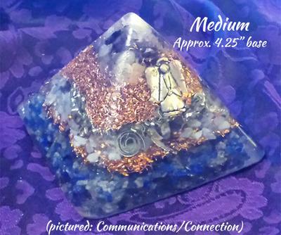 MEDIUM Orgone Pyramid - Third Eye and Crown Opening