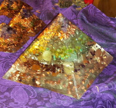 LARGE Orgone Pyramid - Health and Vibrancy