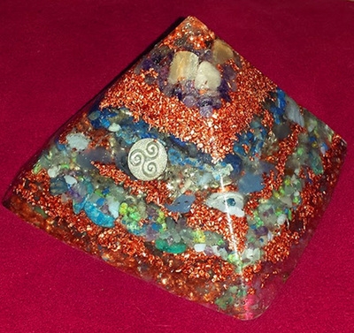 LARGE Orgone Pyramid - New Earth/Crystalline Water Flame/Master FLOW, Higher Connection/Communication